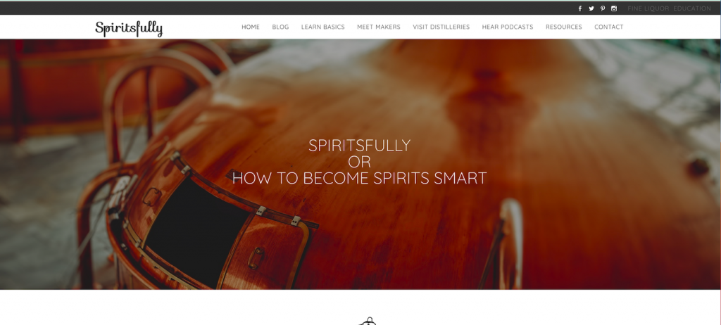 Screenshots of the website spiritsfully.com